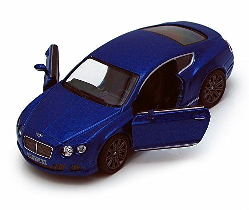 Kinsmart 2012 Bentley Continental GT Speed, Blue 5369D - 1/38 scale Diecast Model Toy Car, but NO BOX