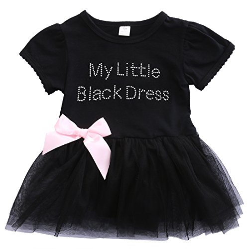 Thing 1 And Thing 2 Tutu (ONE'S New Infant Baby Girls Little Black Dress Pattern Tutu Skirt Bodysuit Jumpsuit (0-6 Months))