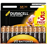 Duracell Plus Power AA, 20 Pack Alcalino 1.5V