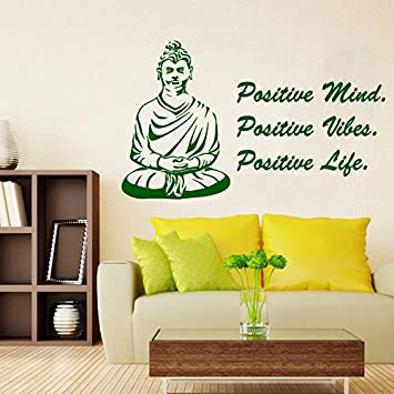 Amazon.com: Wall Decor Vinyl Decal Sticker Positive Mind Positive ...