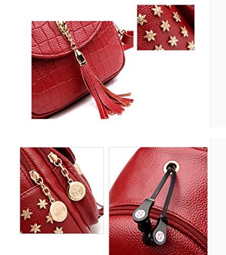 LAIDAYE Bolso Del Pecho De La Señora Del Bolso Del Viaje Del Ocio De La Mochila Del Bolso Del Viaje De Ocio De Las Señoras Multi-funcional Red