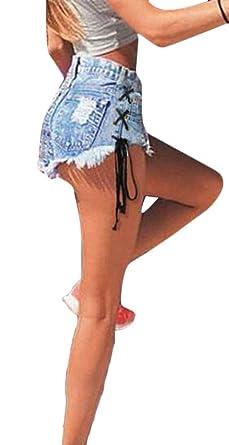 Amazon.com: Domple - Pantalones vaqueros de cintura alta con ...