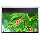 """Antra Electric Motorized 92"""" 16:9 Projector Projection Screen Matte White"""