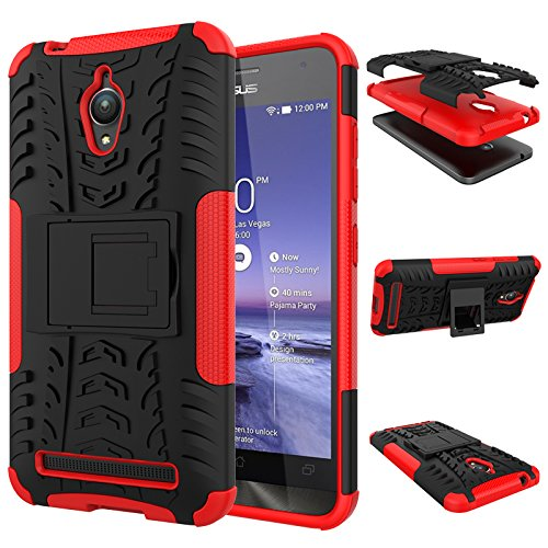 TPU/PC Shockproof Cover Case for Asus Zenfone Go 5.0 (Red) - 1