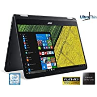 Acer Ultra Slim Spin 7 SP714-51 Touch 2-1 Laptop Intel Core i7-7Y75 8GB Ram 256GB SSD 14' Full HD Gorilla Glass WebCam (Certified Refurbished)