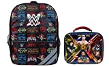 WWE Grand Slam Wrestling Champion Icons 16 inch Backpack with Side Mesh Pockets and WWE Powered Insulated Lunch Box 2 Piece Set