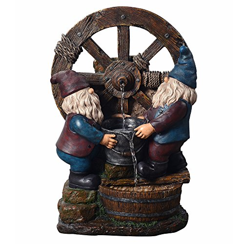- Peaktop Outdoor Little Gnome Friends Fountain