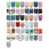 Babygoal 20pcs U Pick Baby Cloth Diapers, One Size Adjustable Reusable Pocket Cloth Diaper Nappy, 20pcs Diapers+20pcs 4-Layer Bamboo Inserts+4pcs Baby Wipes+One Wet Bag+One Free Swim Diaper UP02-CA