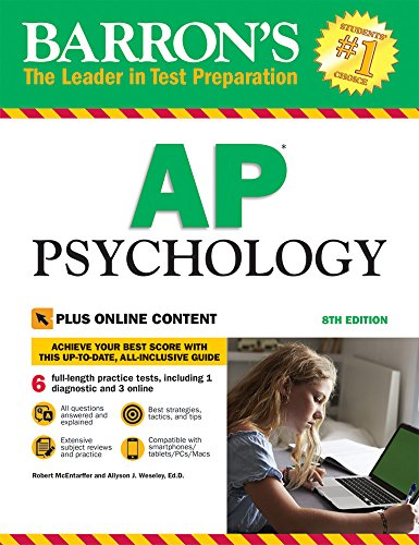 Barron's AP Psychology, 8th Edition: with Bonus Online Tests cover