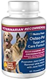 Osteo-Pet Total Joint Care for Dogs - Glucosamine Chondroitin, MSM, Hyaluronic Acid, Boswellia and more - 60 Chewtable Treats