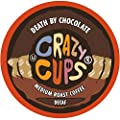 Crazy Cups Flavored Coffee, Decaf Death By Chocolate, Single Serve Cups For Keurig K Cup Brewers, 22 Count