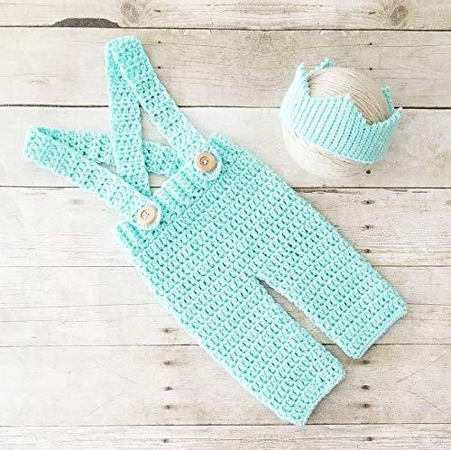 Amazon Com Crochet Baby Prince Crown Overalls Pants Set King Infant