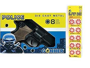 Gonher Mixtos 8 TirosPara Pistola PoliceMetálicaCon Tambor De QrdhCtsx