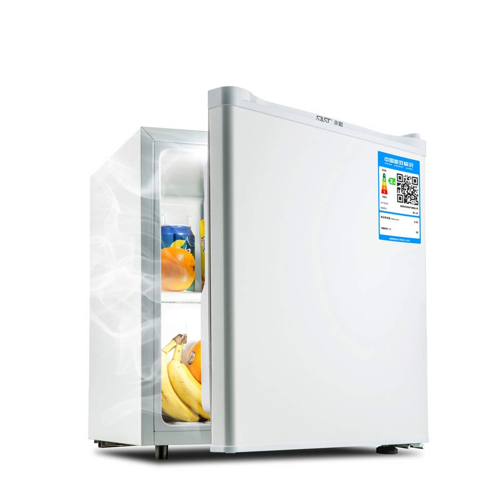 Mini-fridge Lxn White 50L Under Counter Refrigerator with Covered Chiller Compartment - Small Drink Food Storage Machine for Office, Dorm or Apartment with Adjustable Removable Shelves