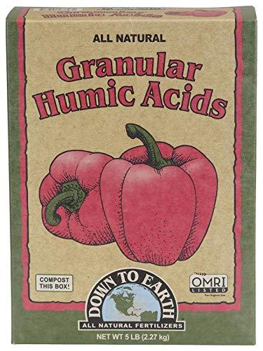 Humic Acid Organic Fertilizer - Down To Earth Organic Granular Humic Acids Fertilizer Mix, 5 lb