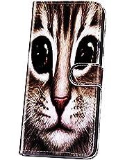 JAWSEU Funda Libro Compatible con Samsung Galaxy A9 2018, Carcasa Suave PU Cuero Flip Billetera Tapa Cartera Case Cierre Magnético Soporte Plegable Ranura para Tarjetas Protectora Cubierta,Gato-1