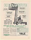 1951 Yale Fork Lift Gas Truck Modern Engineering Achievements Yale & Towne Print Ad (63917)