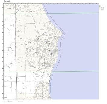 Racine Wisconsin Map.Amazon Com Racine Wi Zip Code Map Laminated Home Kitchen