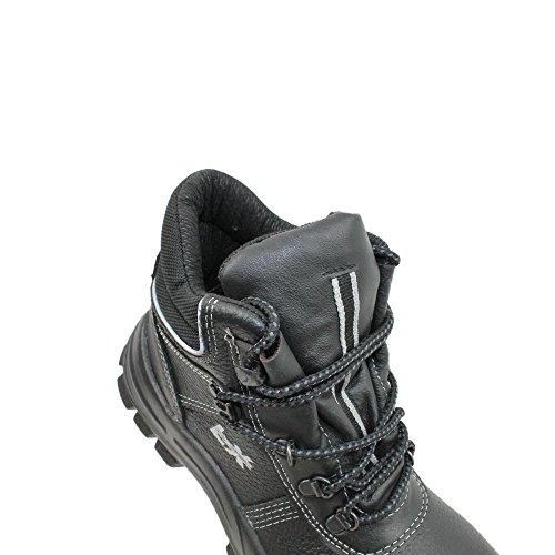 Lupriflex S2 SRC Sicherheitsschuhe Arbeitsschuhe Berufsschuhe Businessschuhe Trekkingschuhe hoch Schwarz Schwarz