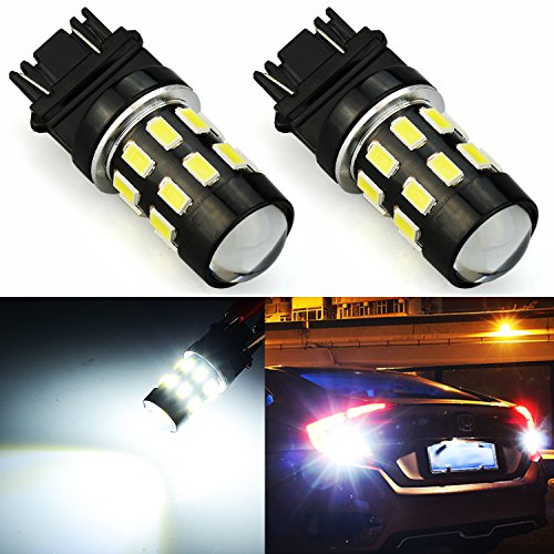 JDM ASTAR 960 Lumens Super Bright 5730 Chipsets 3056 3156 3057 3157 LED Bulbs with Projector,Xenon White (Only used for backup reverse lights)