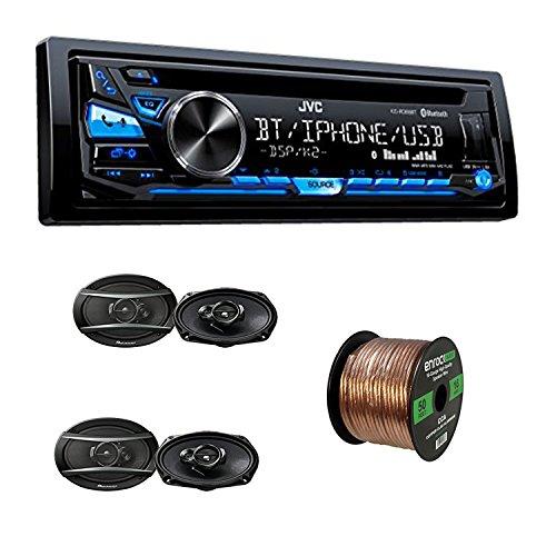JVC Single DIN CD Receiver w/Bluetooth, USB/Aux Input With P
