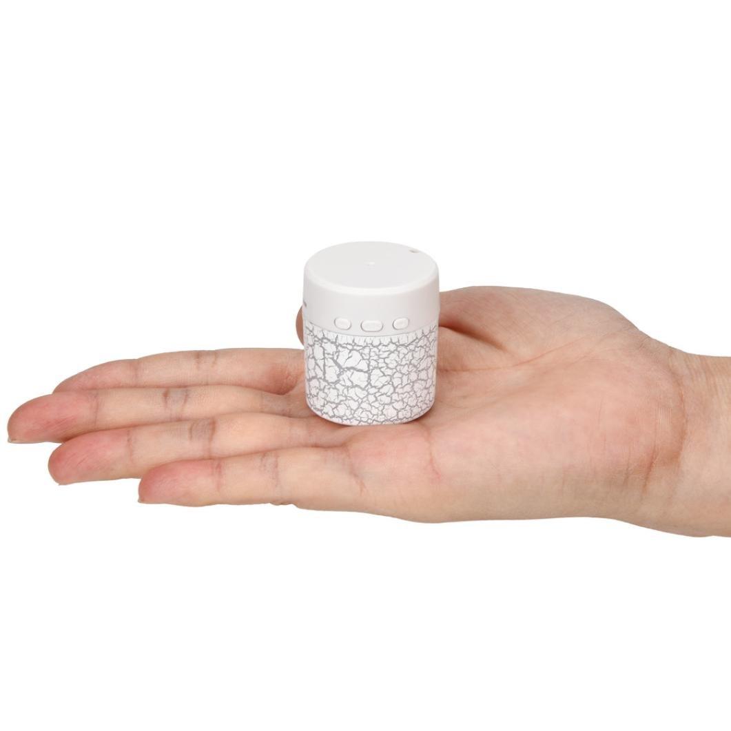 LED Mini Bluetooth Speakers,Tuscom Portable Wireless HandfreeMusic Player with TF Card (White) by Tuscom (Image #4)