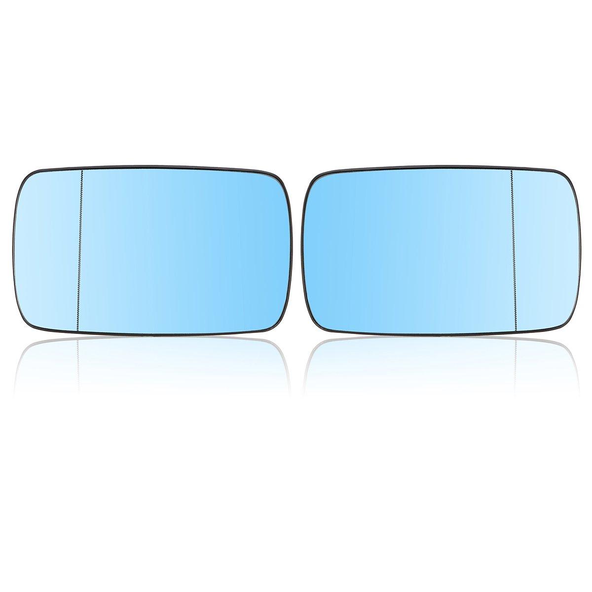 NICOLIE Voiture Gauche Et C/ôt/é Droit Chauff/é Aile Bleu Verre Miroir pour BMW E39 E46 19982005