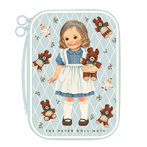 Paper Doll Mate (Afrocat Paper Doll Mate Better Beauty Pouch M Cosmetic Travel Bag Organizer (Alice(Blue)))