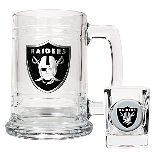 NFL Oakland Raiders Boilermaker Set (Primary Logo)