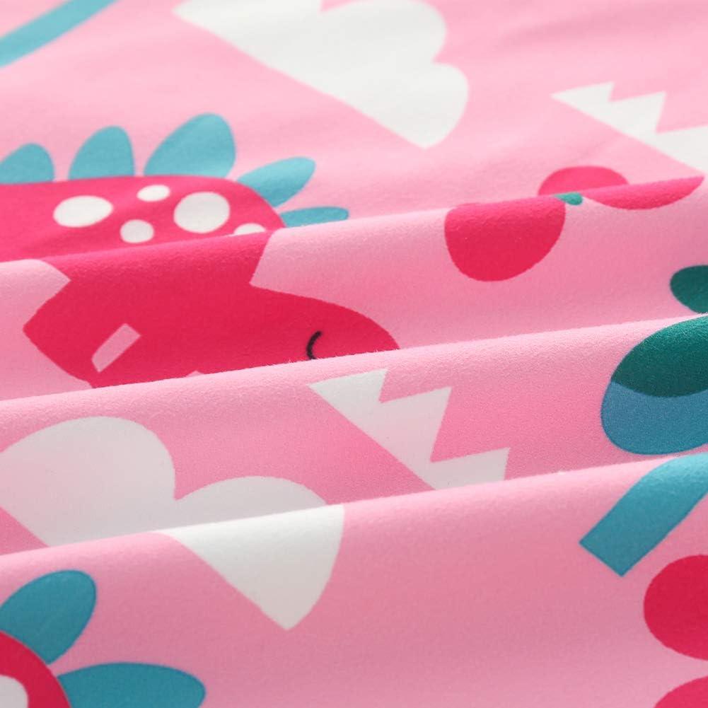 ED-Lumos Peignoir de Bain /à Capuche Enfant Serviette de Bain pour Gar/çon Fille Poncho Beach en Microfibre pour Enfants 4-7 Ans Rose Dinosaure