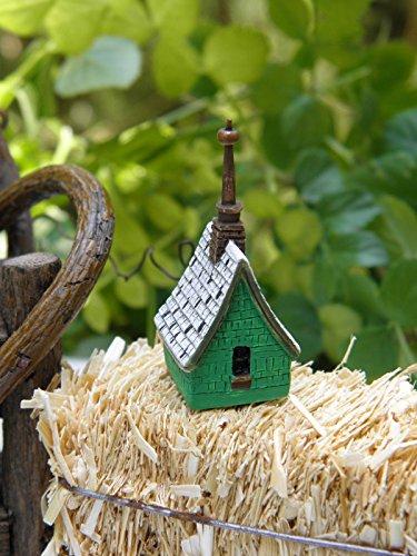 - Miniature Dollhouse Fairy Garden Accessories Irish Cottage Birdhouse