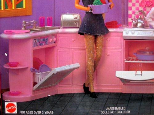 Folding Pretty House 67554 1996 Arcotoys, Mattel Barbie Kitchen Playset