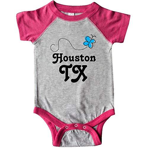 inktastic - Houston Texas Infant Creeper Newborn Heather and Hot Pink f432 ()