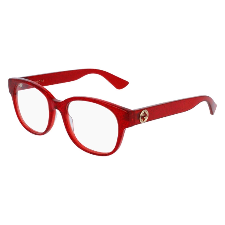 ff9c03137359 Amazon.com: Gucci GG 0040 O- 004 RED Eyeglasses: Clothing