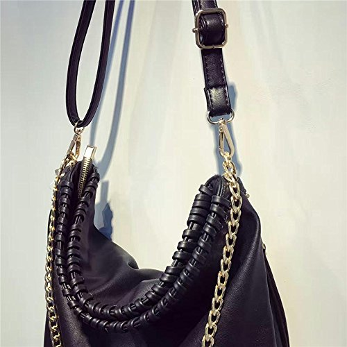 Hobo for Shoulder Handbags Black Fashion 284 Bags Women Tote PU Leather LWK Handbags Large Capacity Women Bags xHBnPpWqY