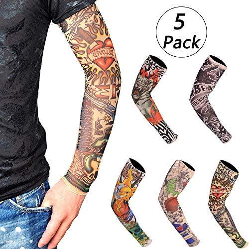 5 Pcs Mangas Tatuajes, (46×11×7cm)Mangas Tatuajes Falsos,Moda ...