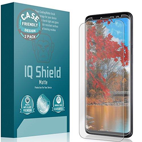 - IQ Shield Matte Screen Protector Compatible with Galaxy S9 (Case Friendly)(2-Pack) Anti-Glare Anti-Bubble Film