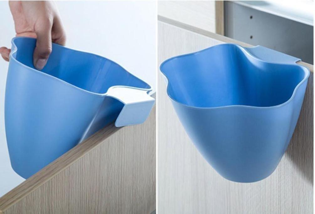 Masrin Küche Schrank Tür hängende Trash Garbage-Müll Dose Behälter-Zubehör, Home-Dekor - rose