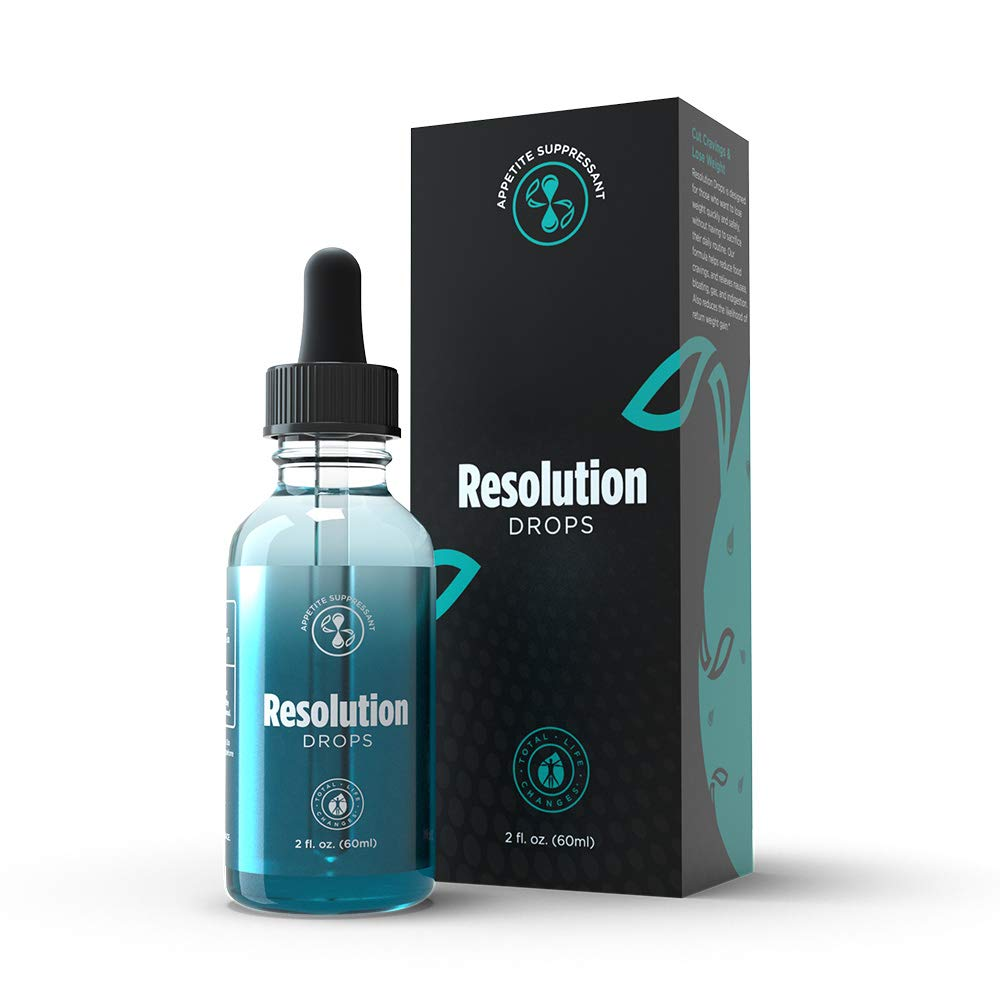 TLC Resolution Drops for Weight Loss: Effective Appetite Suppressant | 2 Fl Oz | 60ml by Total Life Changes