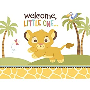 Amazoncom Disney Lion King Baby Shower Invitations 8 count