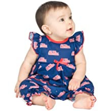 Mississippi OleMiss Rebels Baby Girls Frilly Infant Jumpsuit, NB - 24m