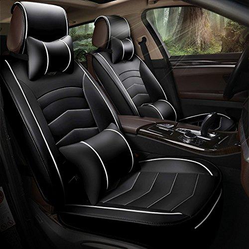ANKIV FULL SET Universal Fit 5 Seats Car Sedan Suv Seat Covers Protectors Waterproof Pu Leather Auto Seat Cushions -