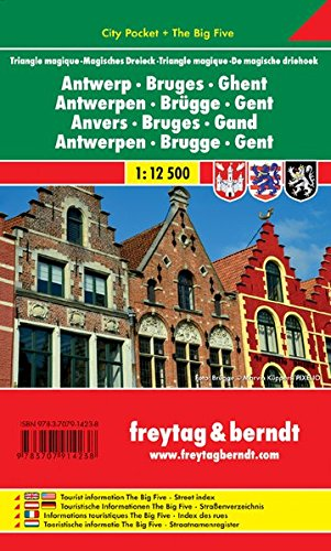 Ghent Map (Antwerp - Bruges - Ghent: FB City Pocket Map (English, French and German Edition))