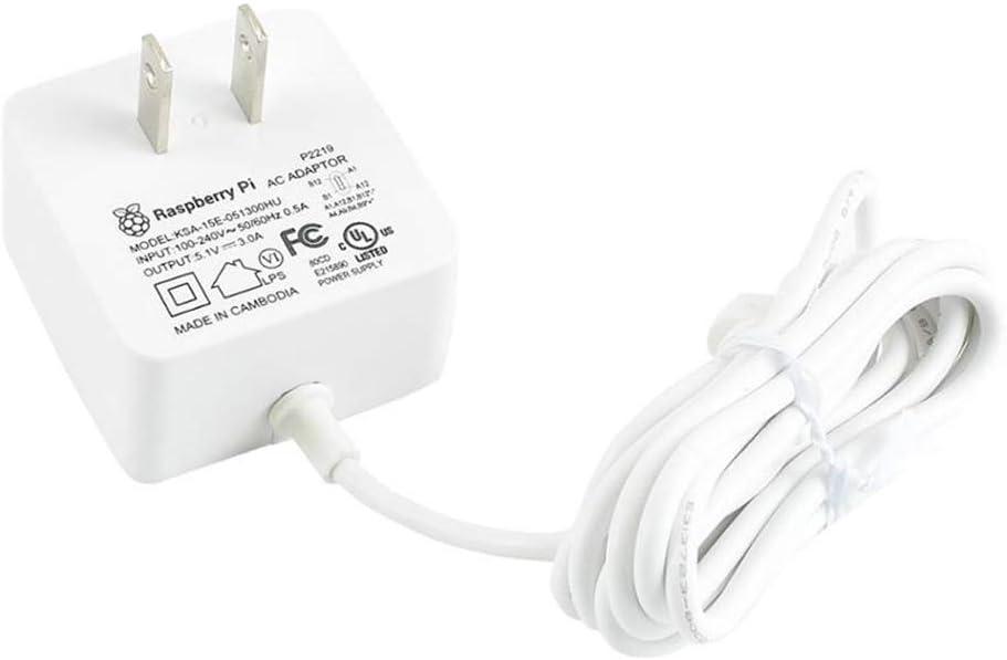 US Plug 3A Black SC0218 Pi Accessory USB-C 5.1V Raspberry Pi 4 Model B Official PSU