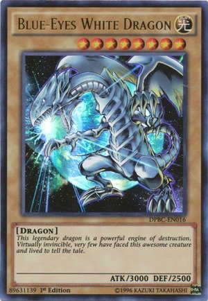 Yu-Gi-Oh! - Blue-Eyes White Dragon (DPBC-EN016) - Duelist Pack 16: Battle City - 1st Edition - Ultra Rare
