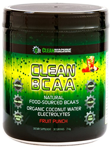 Clean Machine BCAA Fruit Punch Powder, 30 Count by Clean Machine