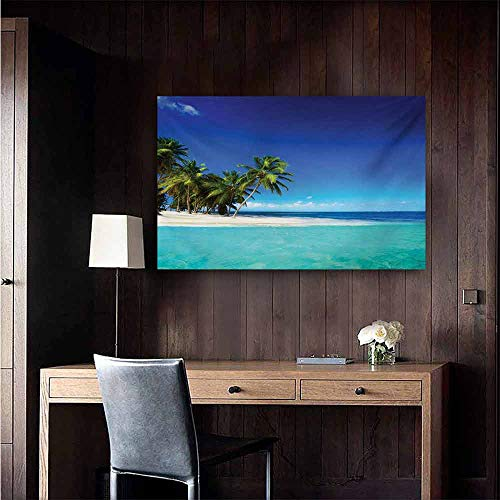 (duommhome Ocean Art Oil Paintings Seaside View Tropical Island Coast Jungle Nature Landscape Picture Canvas Prints for Home Decorations 35