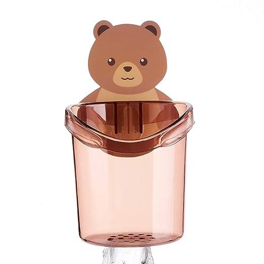 Niños de dibujos animados lindo oso baño boca cepillado ...