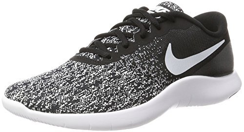 NIKE Mens Flex Contact Running Shoes (10.5 D(M) US, Black White)