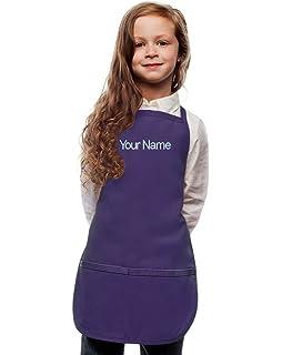 Personalized Purple Kids Apron Poly//Cotton Twill Fabric